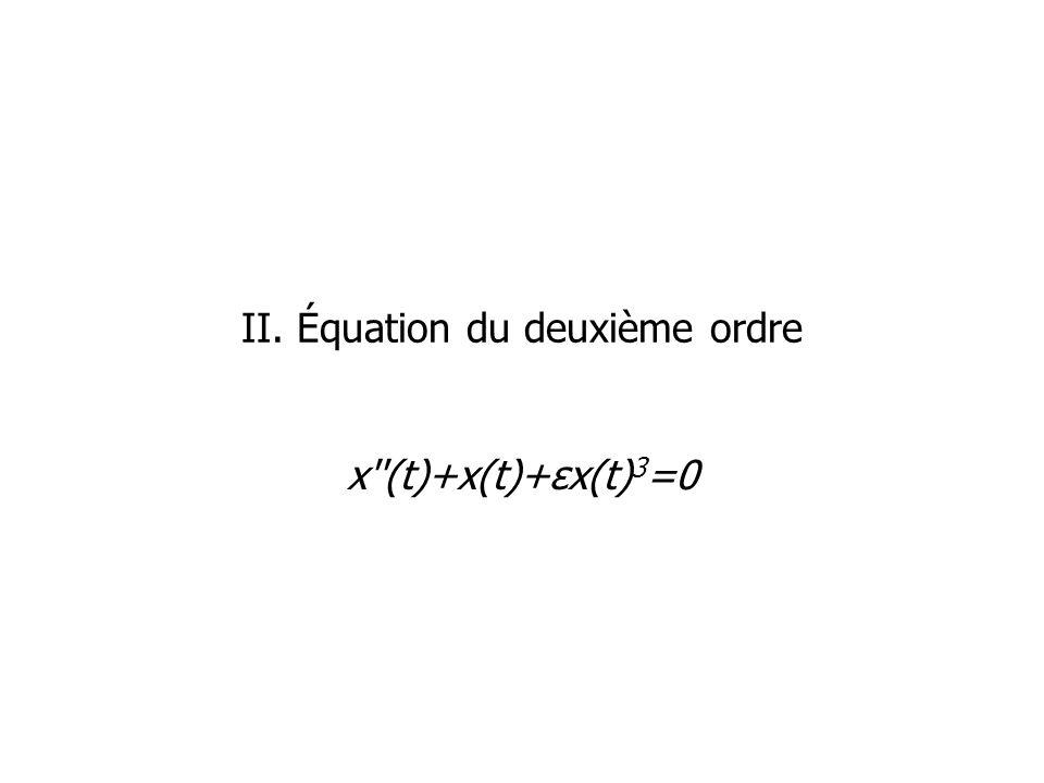 II. Équation du deuxième ordre