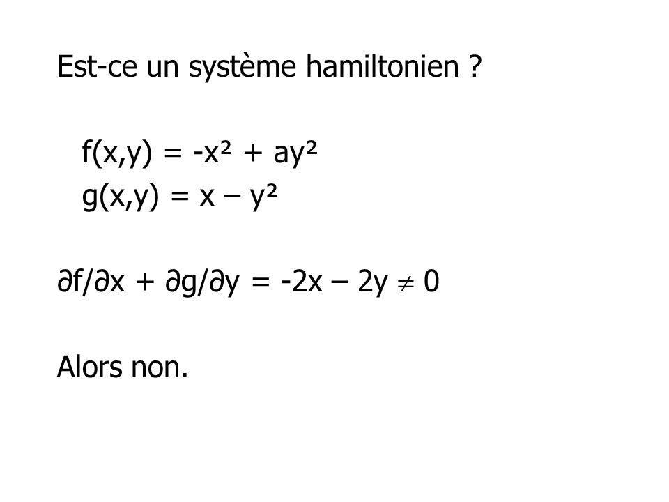 Est-ce un système hamiltonien