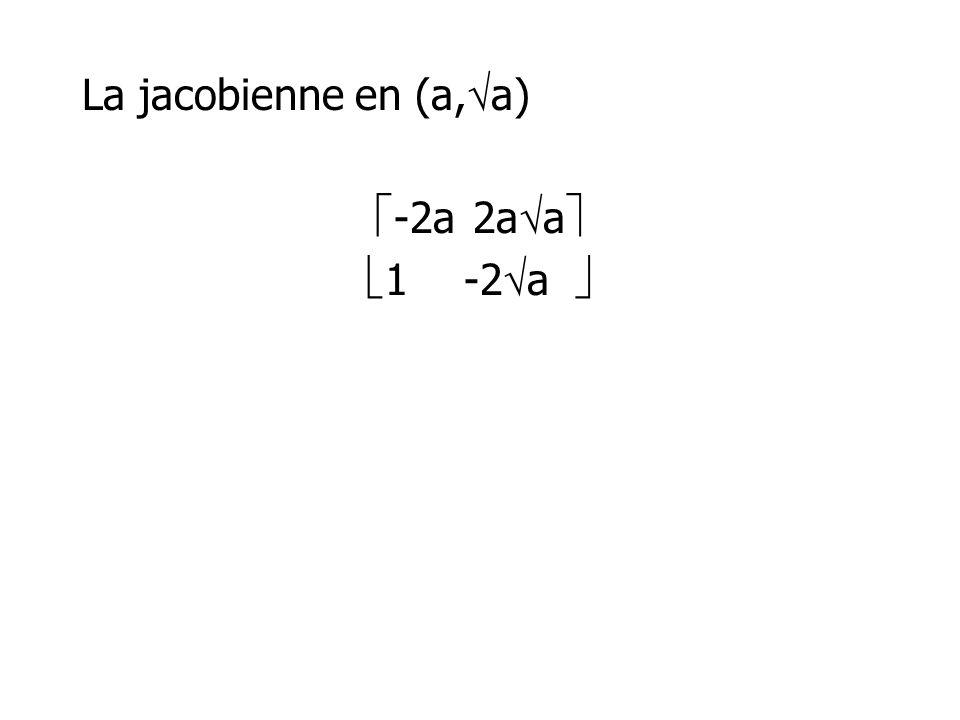 La jacobienne en (a,a) -2a 2aa 1 -2a 