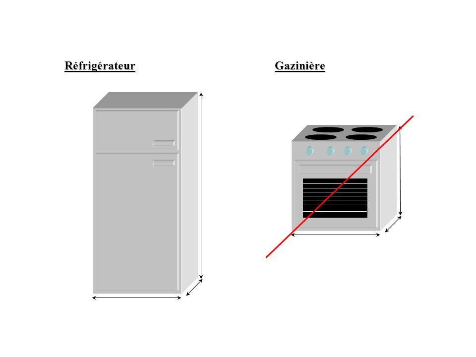 Réfrigérateur Gazinière