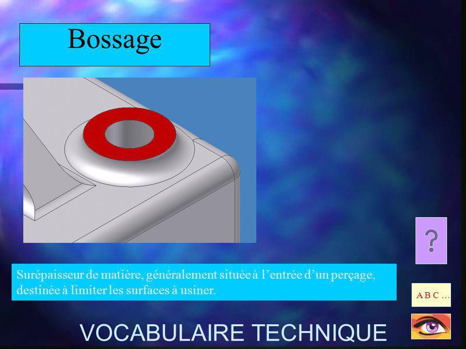Bossage VOCABULAIRE TECHNIQUE