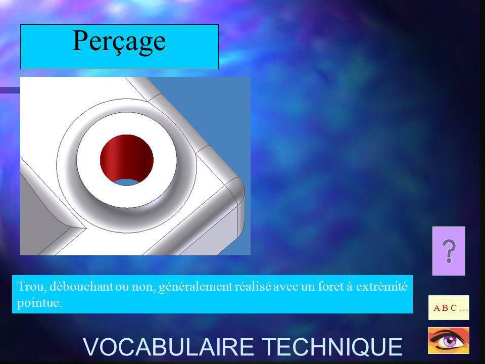 Perçage VOCABULAIRE TECHNIQUE