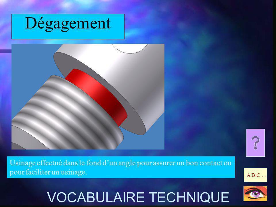 Dégagement VOCABULAIRE TECHNIQUE