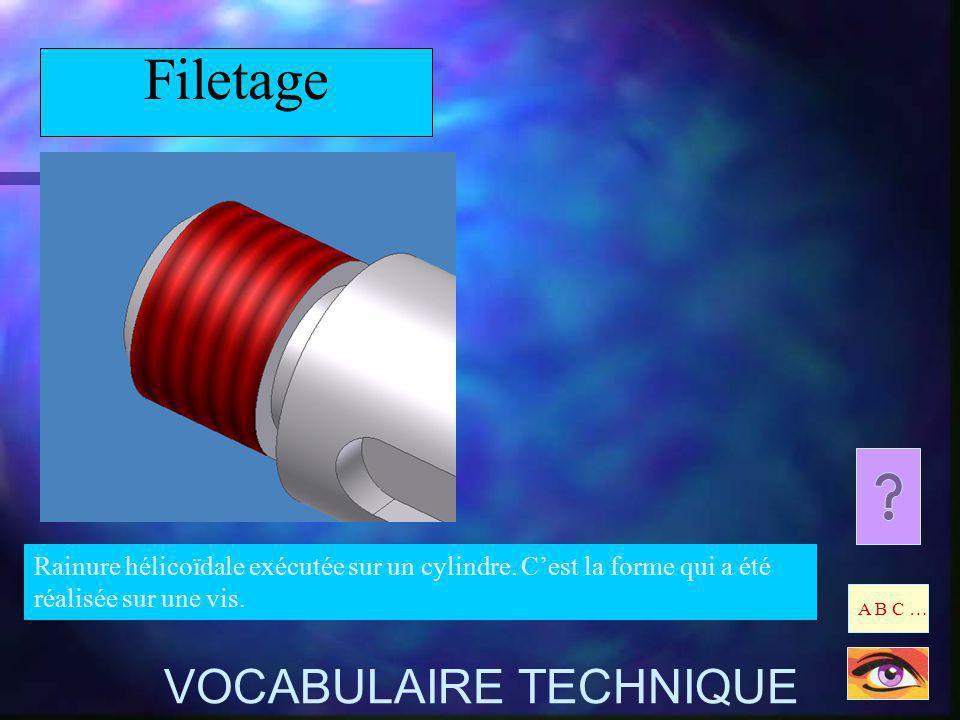 Filetage VOCABULAIRE TECHNIQUE