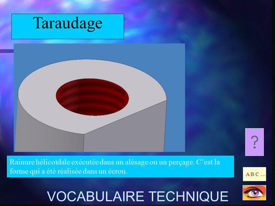 Taraudage VOCABULAIRE TECHNIQUE