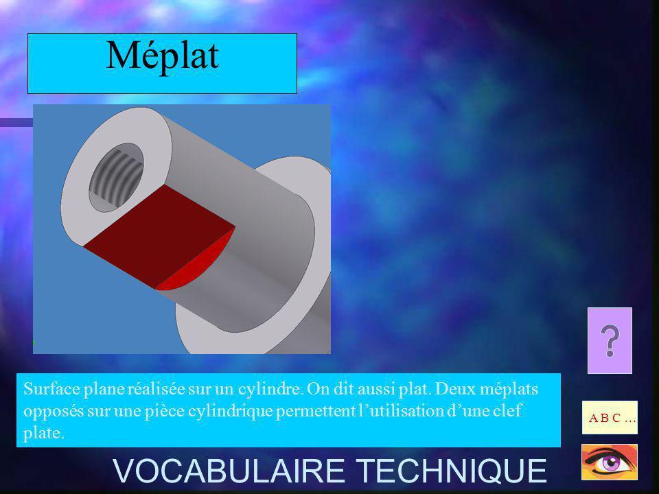 Méplat VOCABULAIRE TECHNIQUE