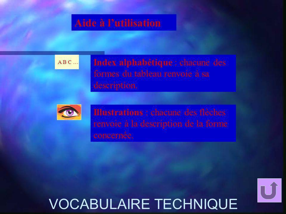 VOCABULAIRE TECHNIQUE