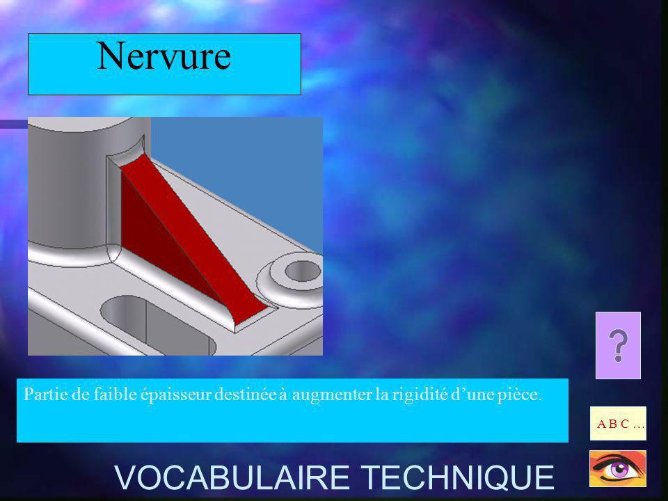 Nervure VOCABULAIRE TECHNIQUE