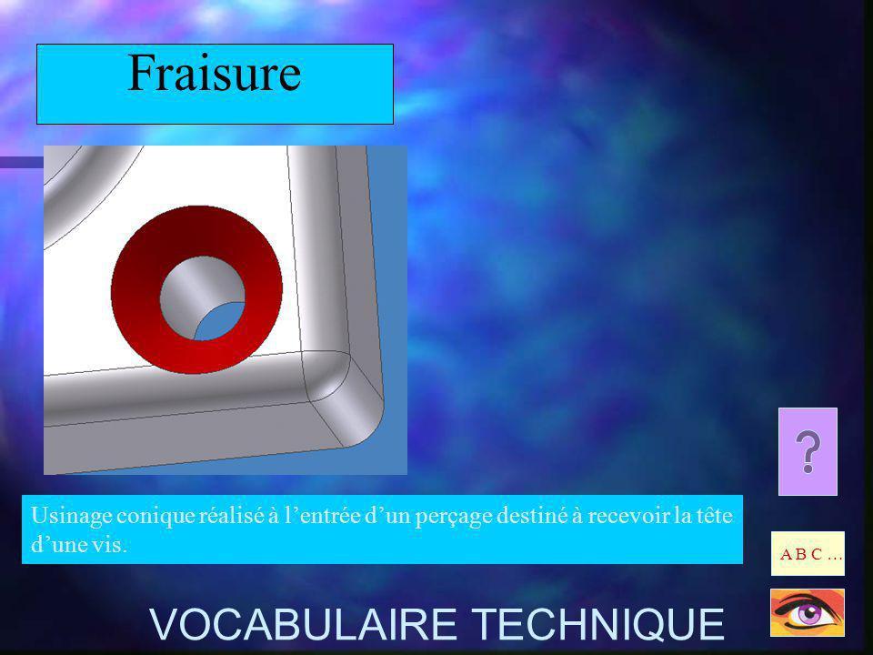 Fraisure VOCABULAIRE TECHNIQUE