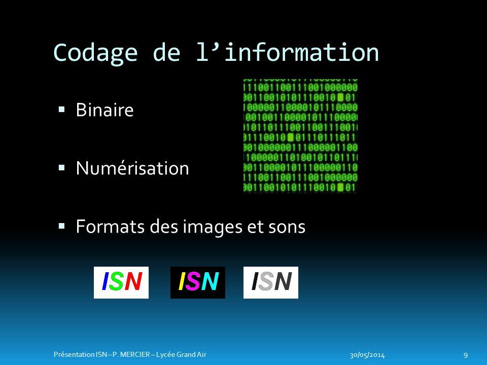 Codage de l'information