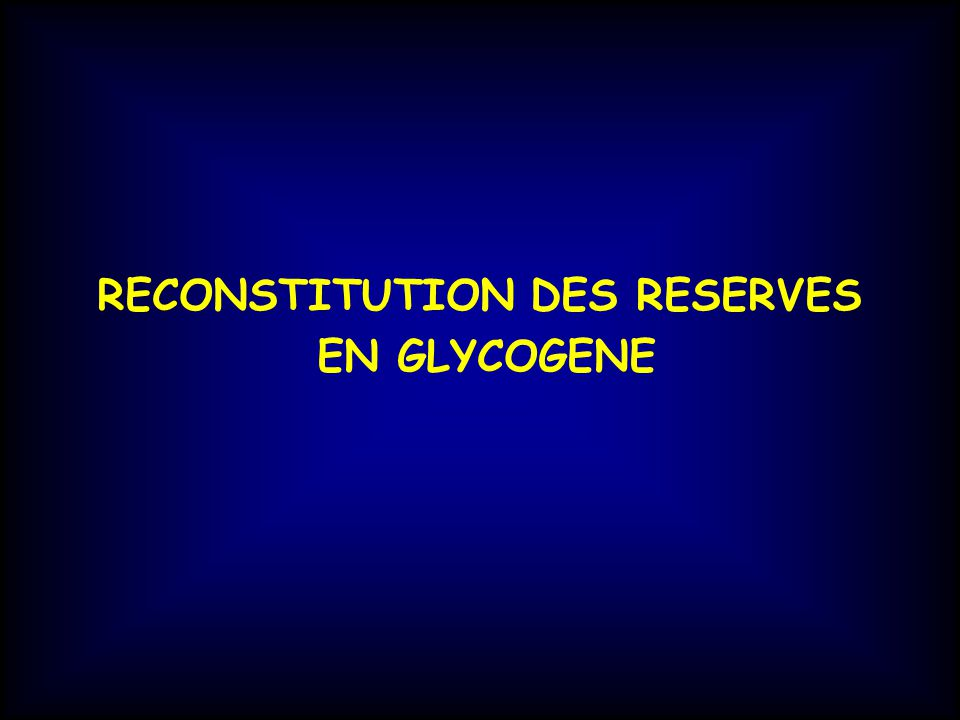 RECONSTITUTION DES RESERVES