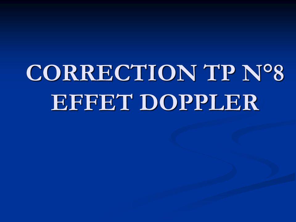 CORRECTION TP N°8 EFFET DOPPLER
