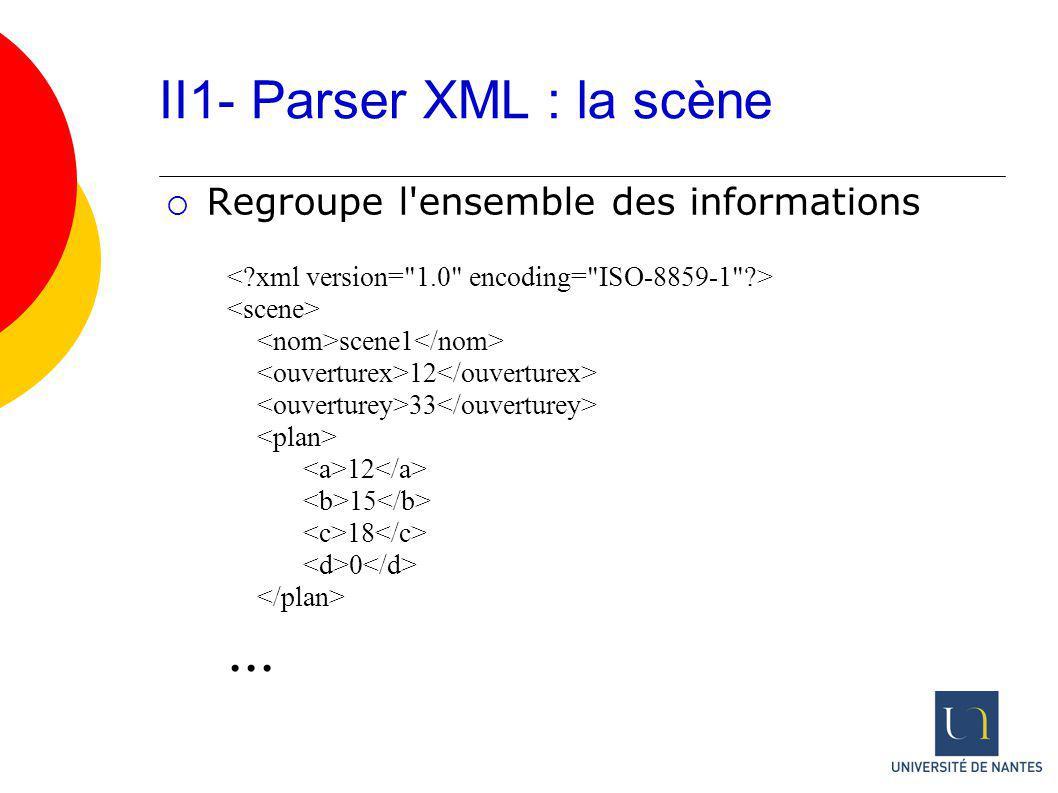 II1- Parser XML : la scène