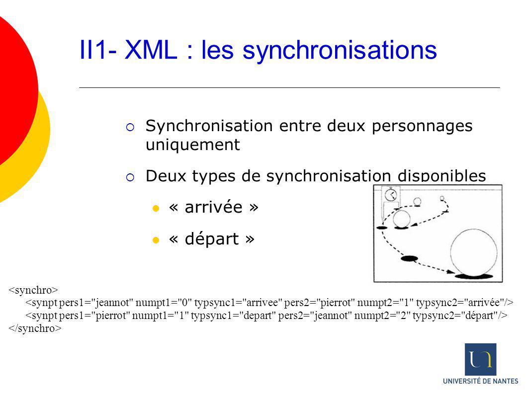 II1- XML : les synchronisations