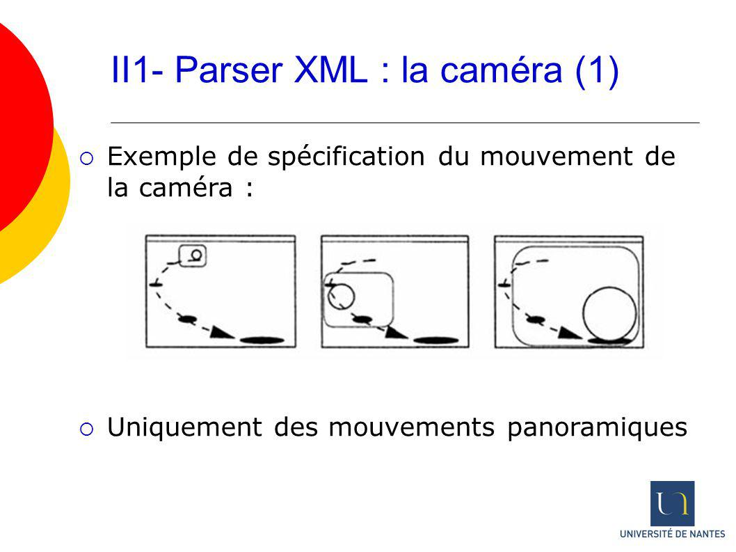 II1- Parser XML : la caméra (1)