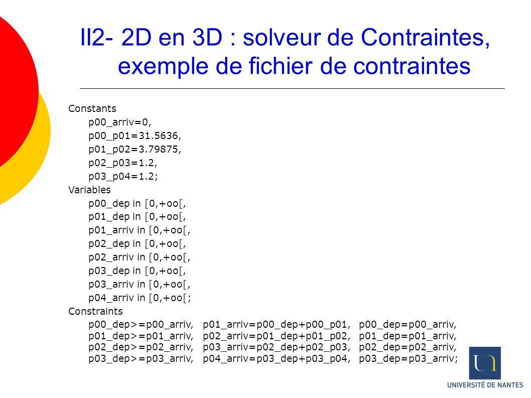II2- 2D en 3D : solveur de Contraintes,