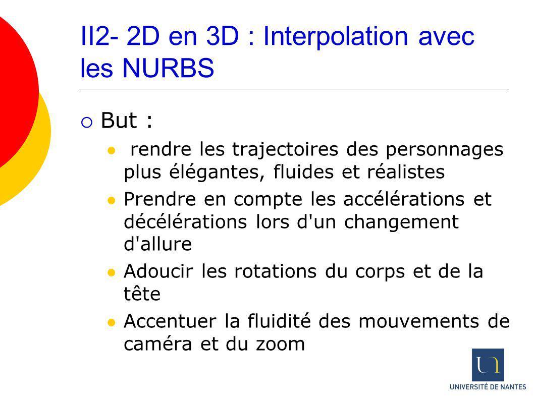 II2- 2D en 3D : Interpolation avec les NURBS