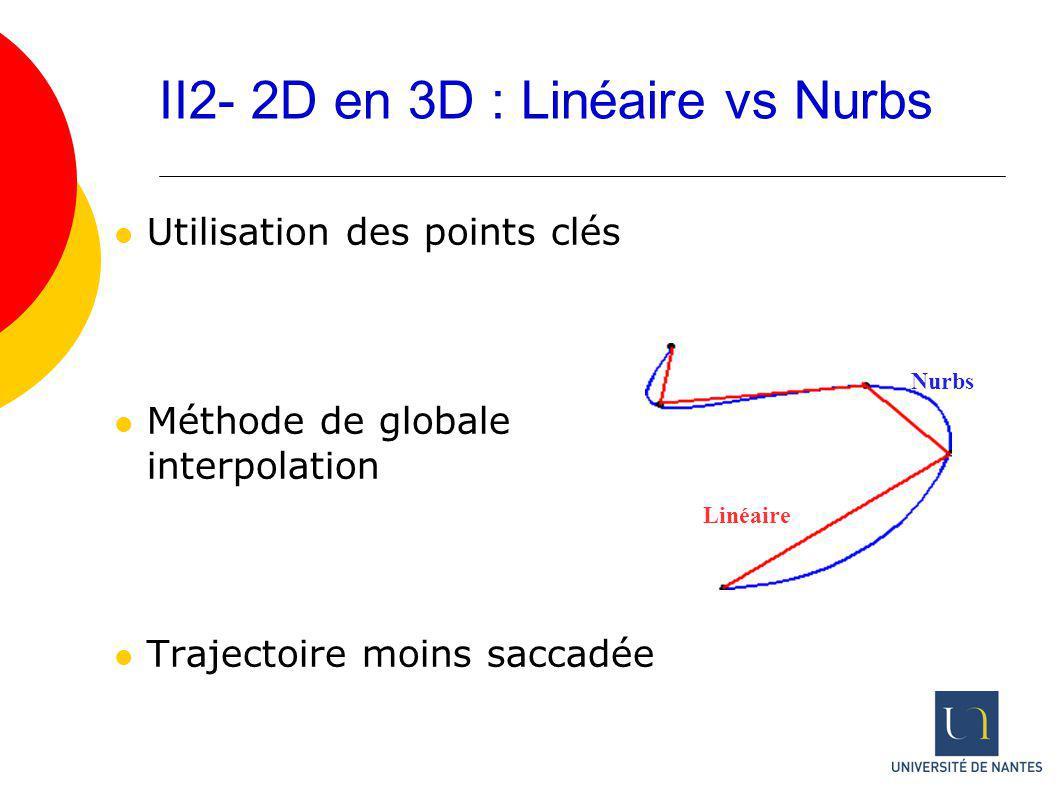 II2- 2D en 3D : Linéaire vs Nurbs
