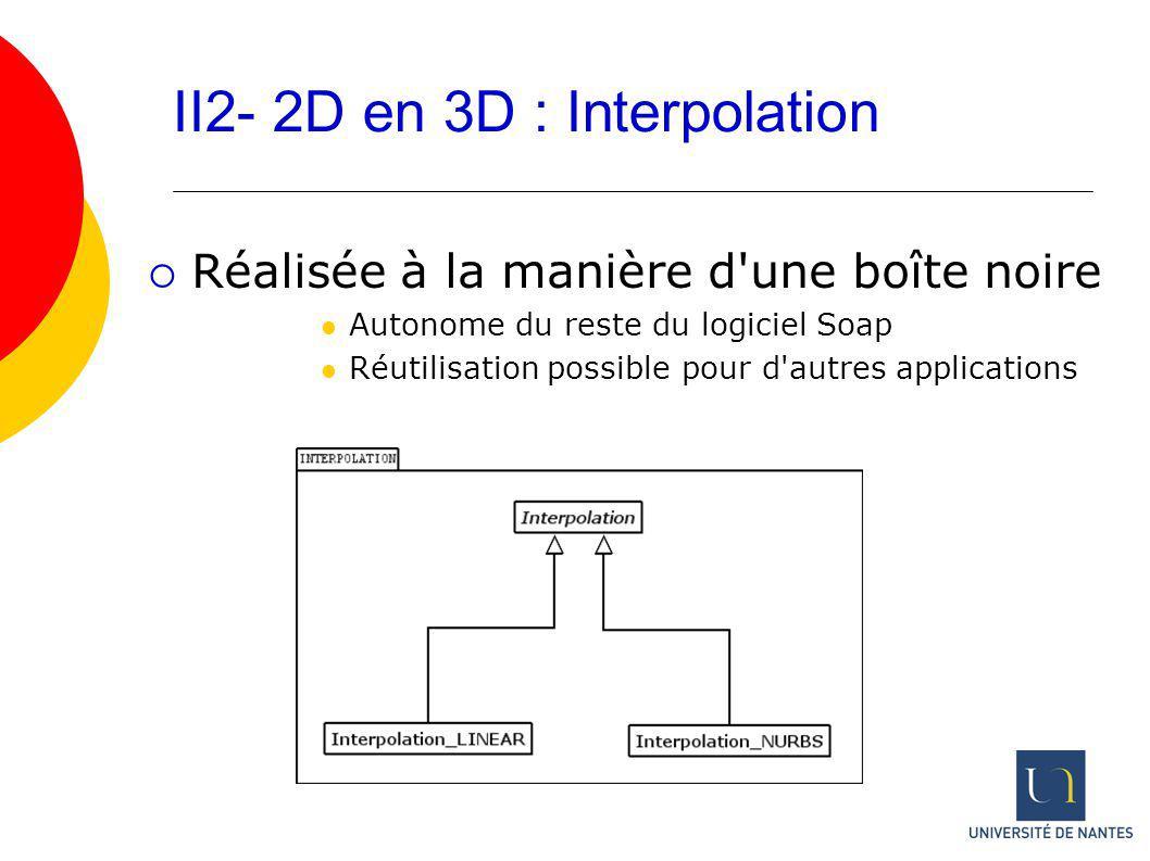 II2- 2D en 3D : Interpolation