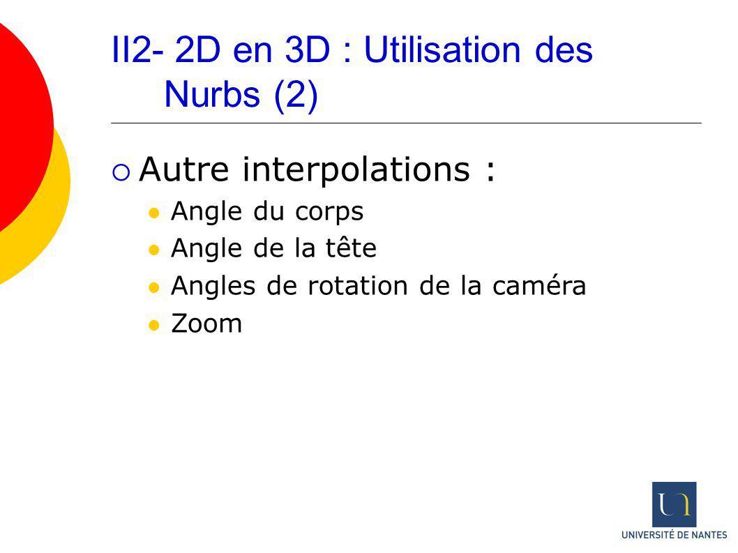 II2- 2D en 3D : Utilisation des Nurbs (2)
