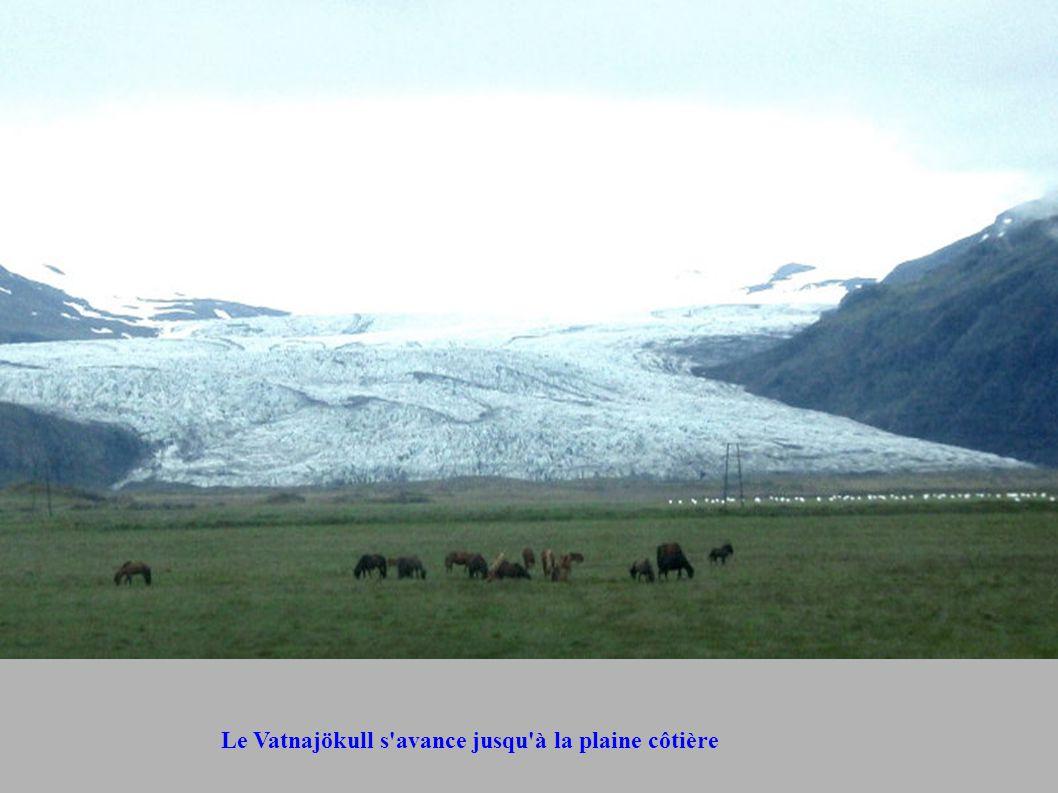 Le Vatnajökull s avance jusqu à la plaine côtière