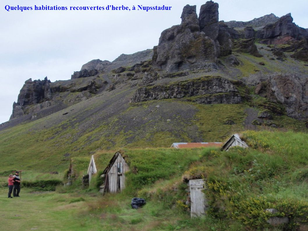 Quelques habitations recouvertes d herbe, à Nupsstadur