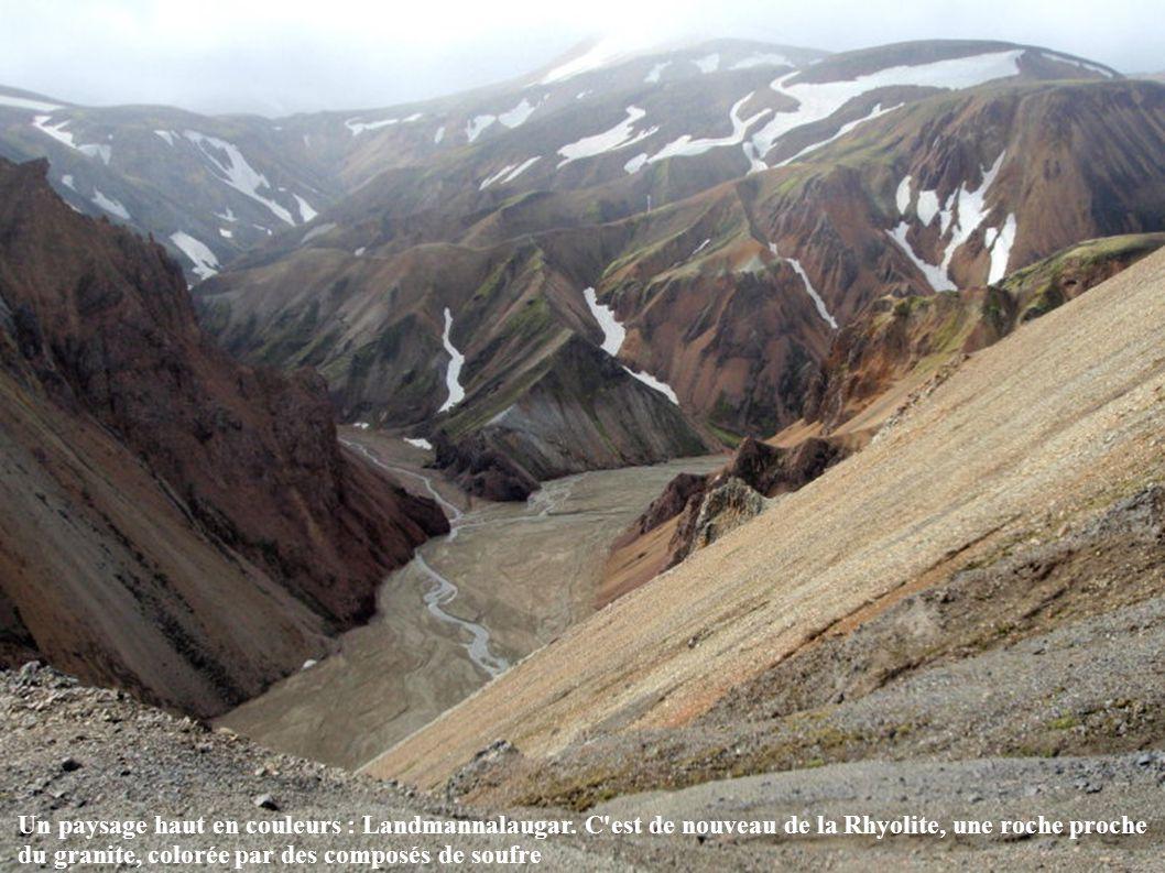 Un paysage haut en couleurs : Landmannalaugar