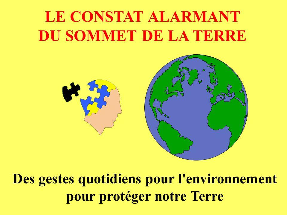 Des gestes quotidiens pour l environnement pour protéger notre Terre
