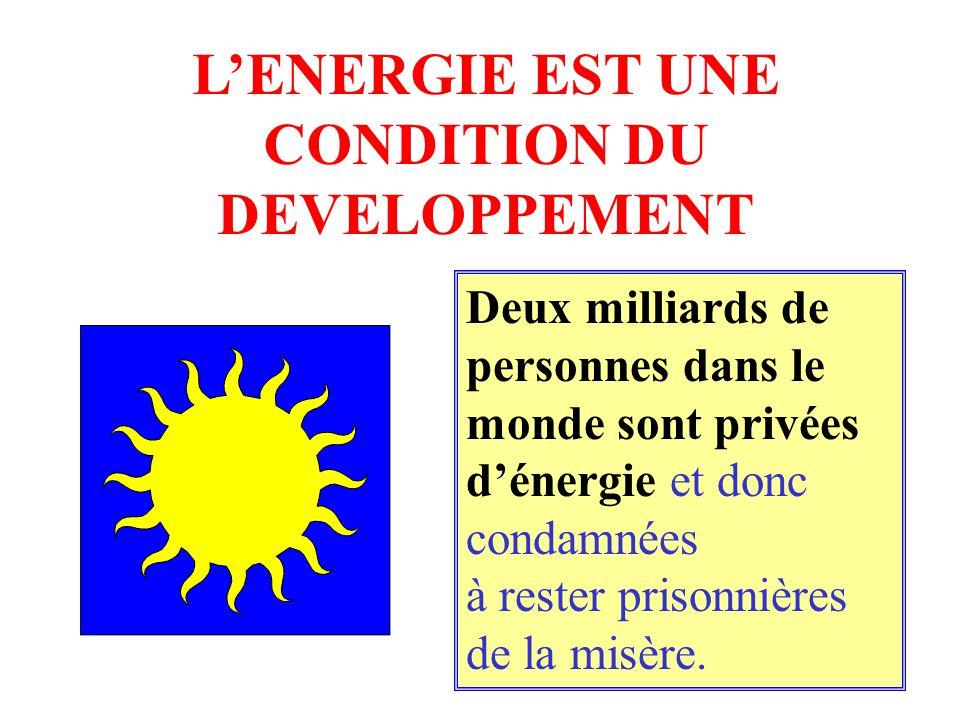 L'ENERGIE EST UNE CONDITION DU DEVELOPPEMENT
