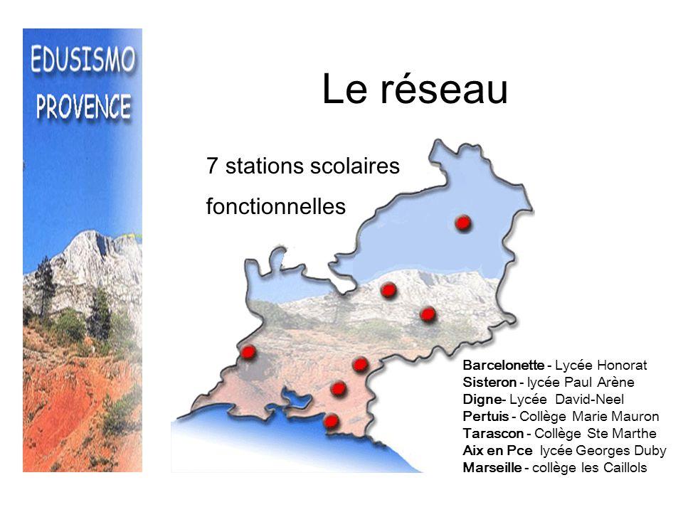 Le réseau + lambesc 7 stations scolaires fonctionnelles