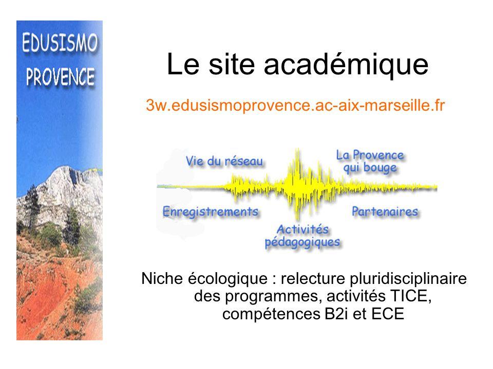 Le site académique 3w.edusismoprovence.ac-aix-marseille.fr