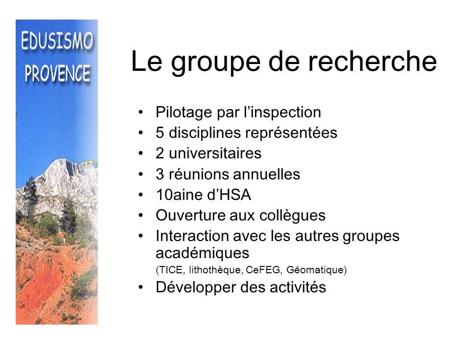 Le groupe de recherche Pilotage par l'inspection