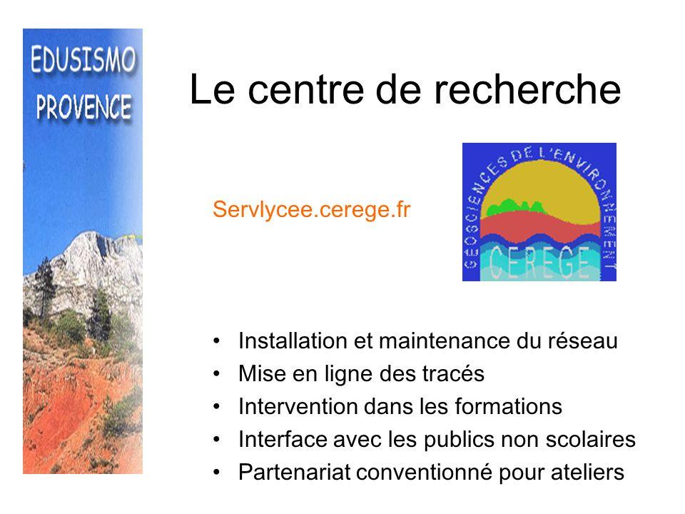 Le centre de recherche Servlycee.cerege.fr