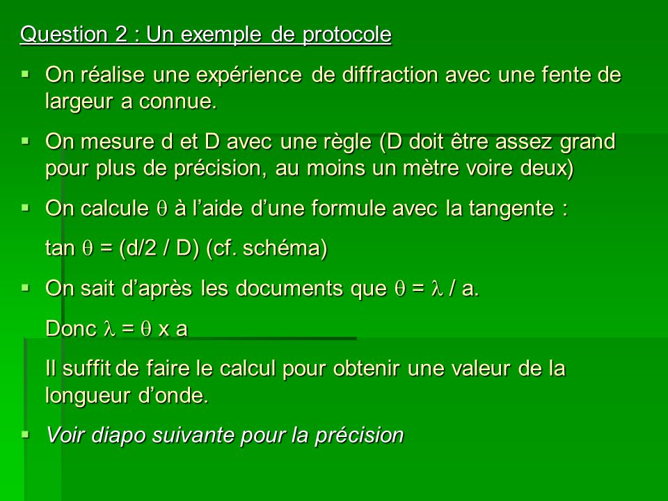 Question 2 : Un exemple de protocole