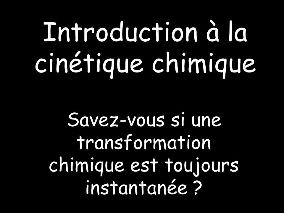Introduction à la cinétique chimique
