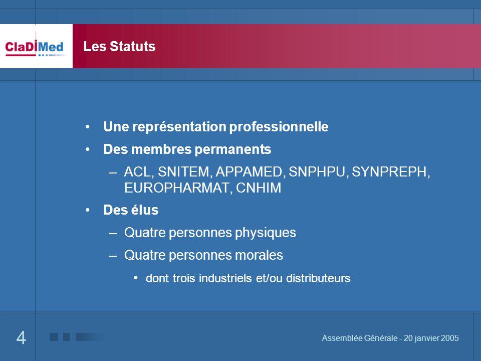 Une représentation professionnelle Des membres permanents