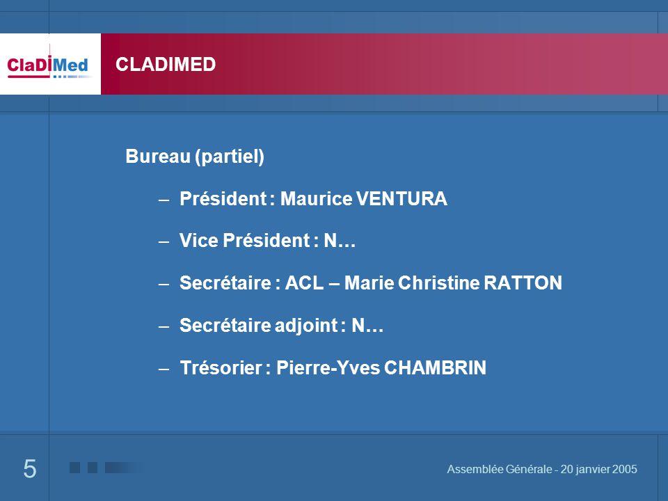 Président : Maurice VENTURA Vice Président : N…