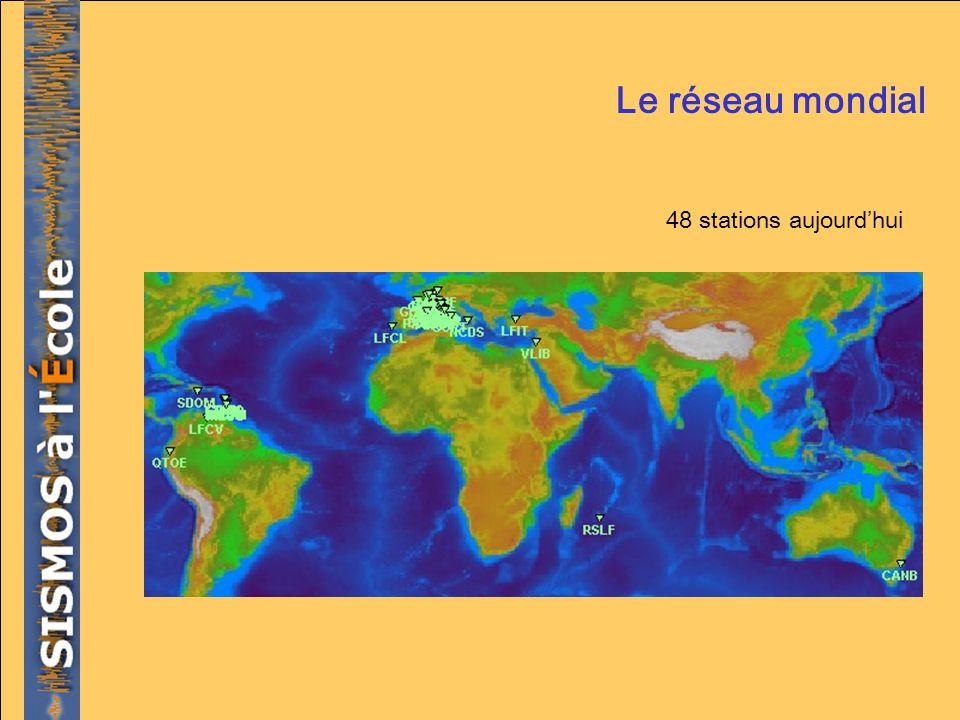 Le réseau mondial 48 stations aujourd'hui