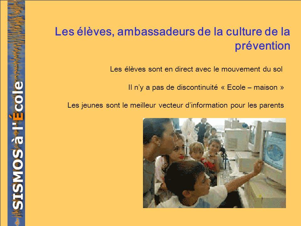 Les élèves, ambassadeurs de la culture de la prévention