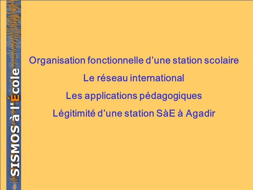Organisation fonctionnelle d'une station scolaire