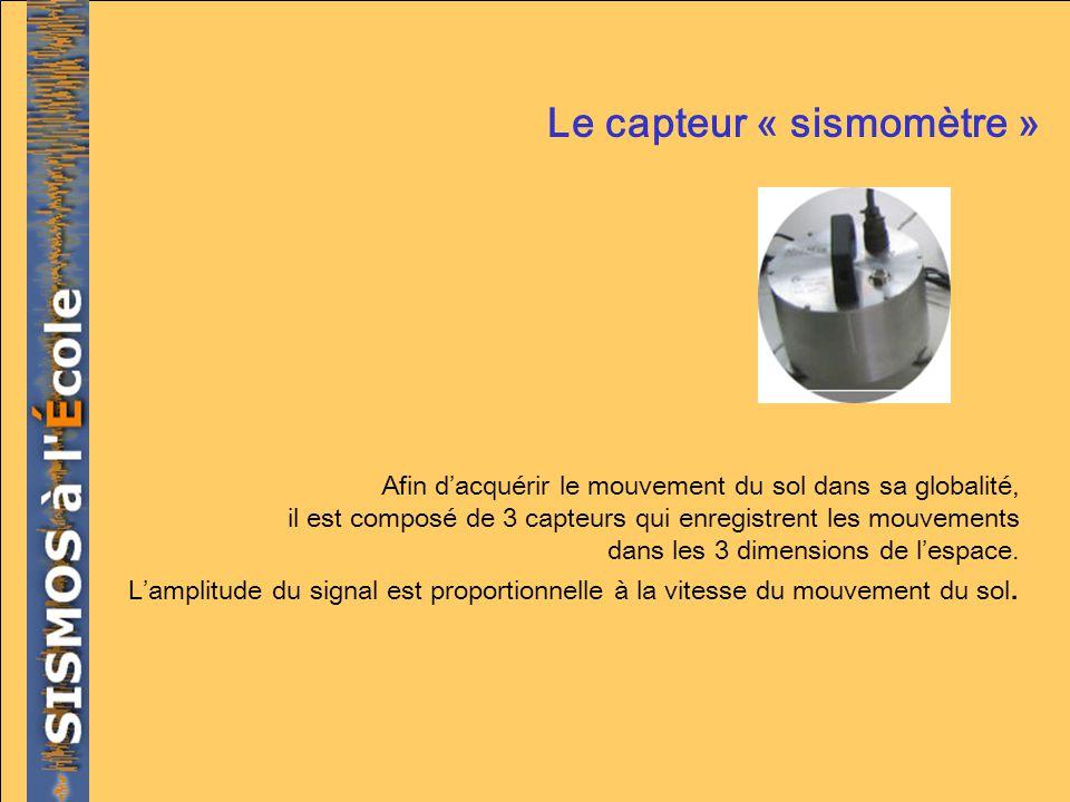 Le capteur « sismomètre »