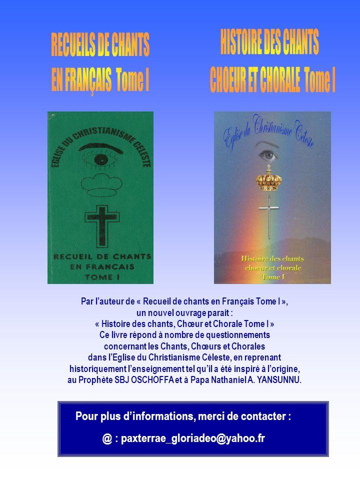 CHOEUR ET CHORALE Tome I RECUEILS DE CHANTS EN FRANÇAIS Tome I