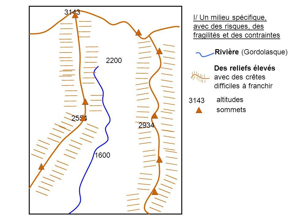 3143 I/ Un milieu spécifique, avec des risques, des fragilités et des contraintes. Rivière (Gordolasque)