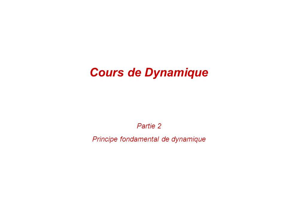 Principe fondamental de dynamique