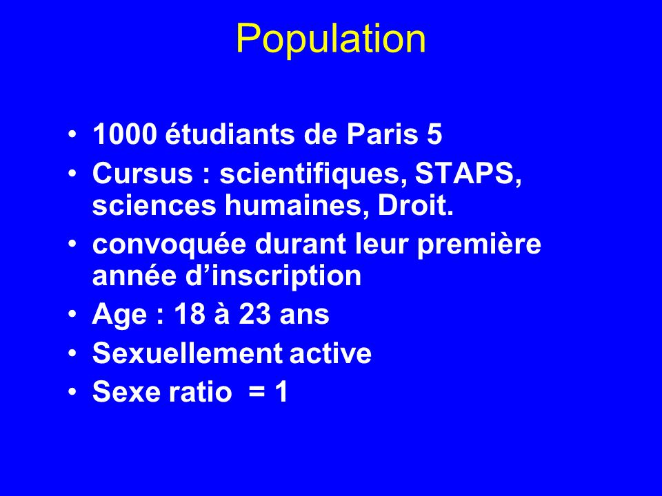 Population 1000 étudiants de Paris 5