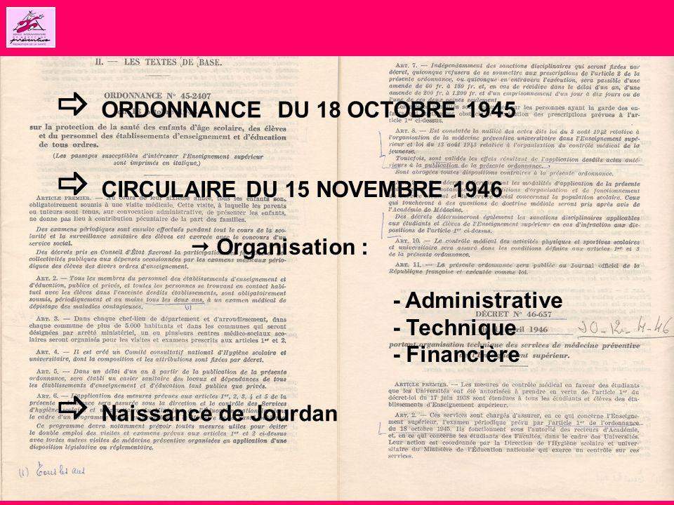  ORDONNANCE DU 18 OCTOBRE 1945