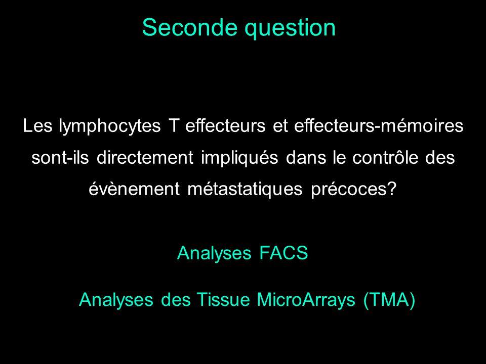 Analyses des Tissue MicroArrays (TMA)