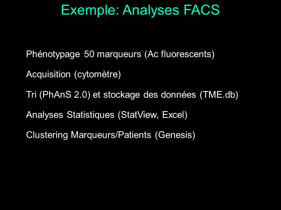 Exemple: Analyses FACS