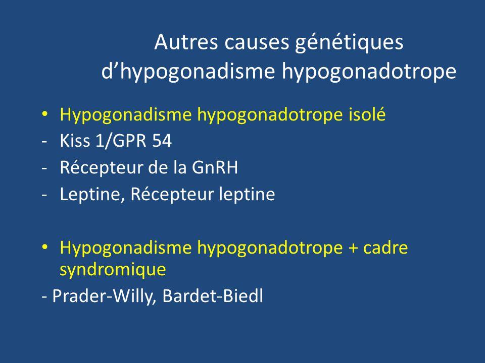 Autres causes génétiques d'hypogonadisme hypogonadotrope