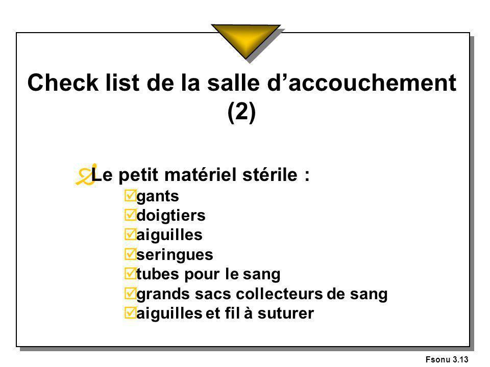 Check list de la salle d'accouchement (2)